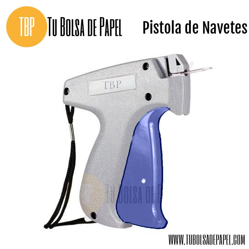 Pistola de navetes para prendas textiles incluye 200 for Pistola de pegamento o de silicona