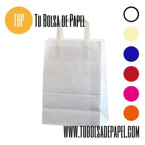 Bolsas de papel con el asa plana sin personalizar