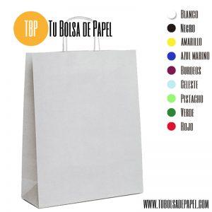 bolsas de papel blanca asa rizada