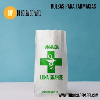 bolsa farmacia de papel tipo sobre personalizadas blancas
