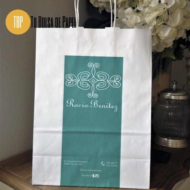 Bolsa de papel Celulosa personalizada para tiendas