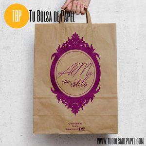 Bolsa de papel kraft personalizada para tiendas