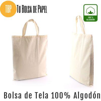 Bolsa reutilizable de tela 100 % algodón