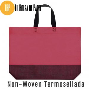Bolsas reutilizables non woven Termosellada Bicolor rosetón y negro