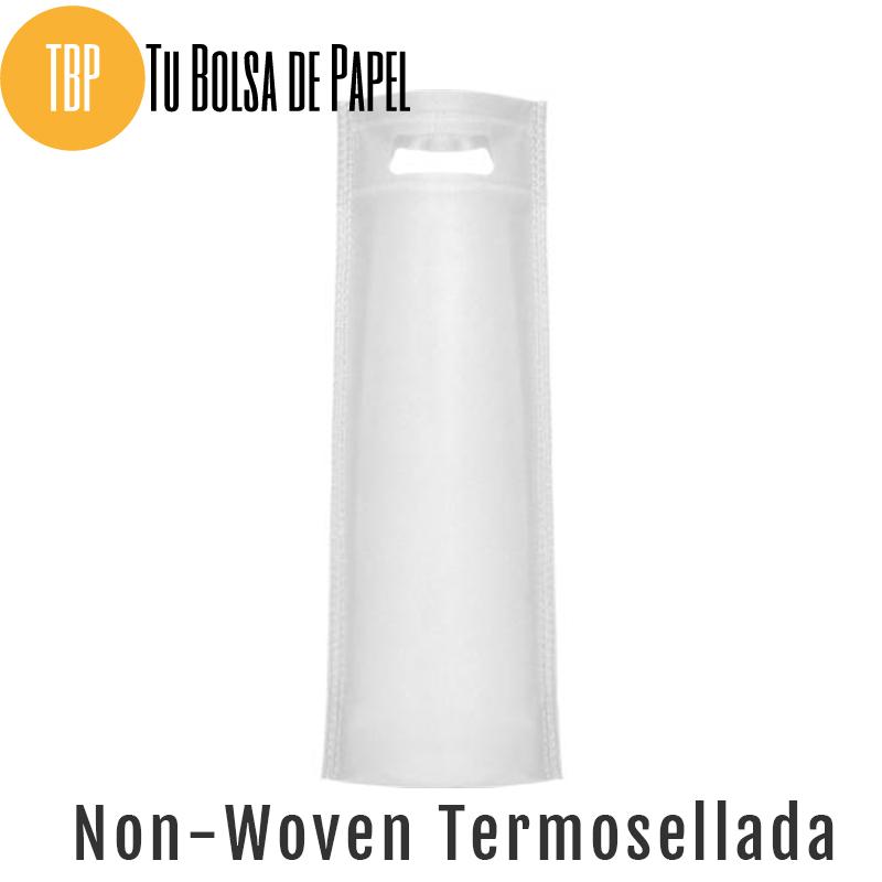 Bolsas reutilizables non woven Termosellada Blanca Para botellas