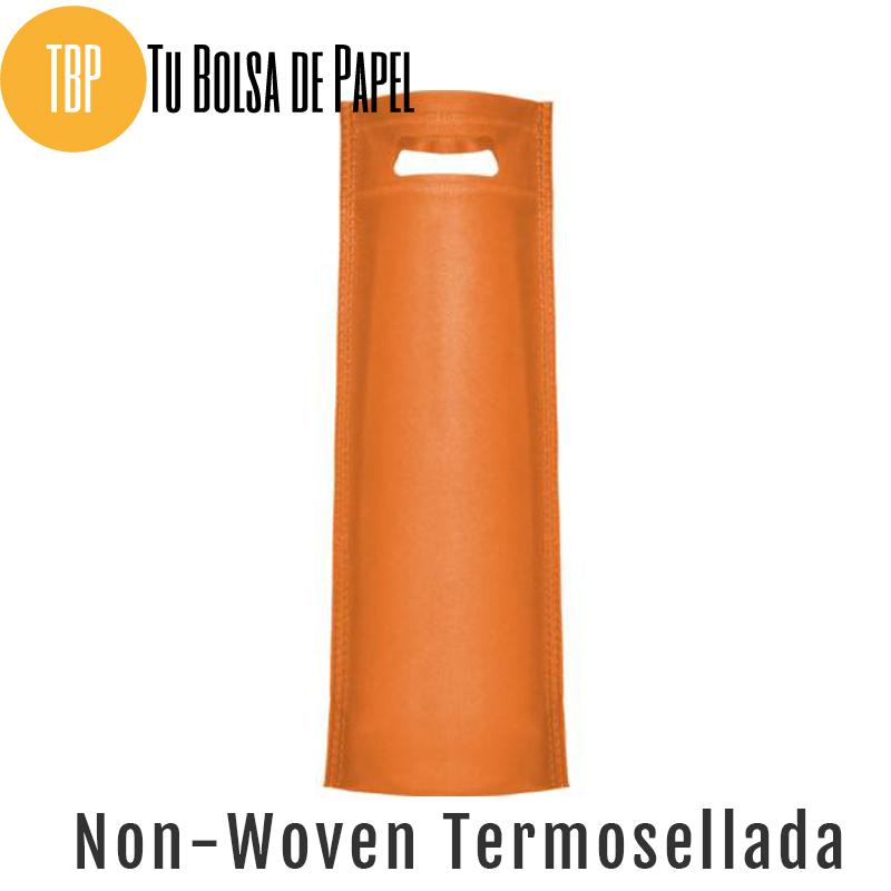 Bolsas reutilizables non woven Termosellada - Naranja para botellas
