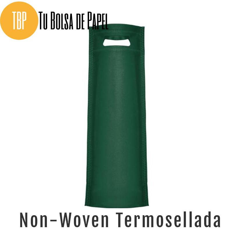 Bolsas reutilizables non woven Termosellada - Verdes para botellas