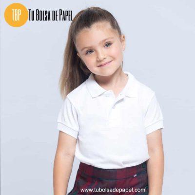 Polo infantil para uniformes escolares