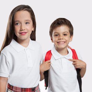 Polos infantiles Uniforme Escolar