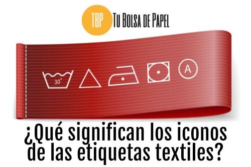 Significado de los iconos en las etiquetas textiles