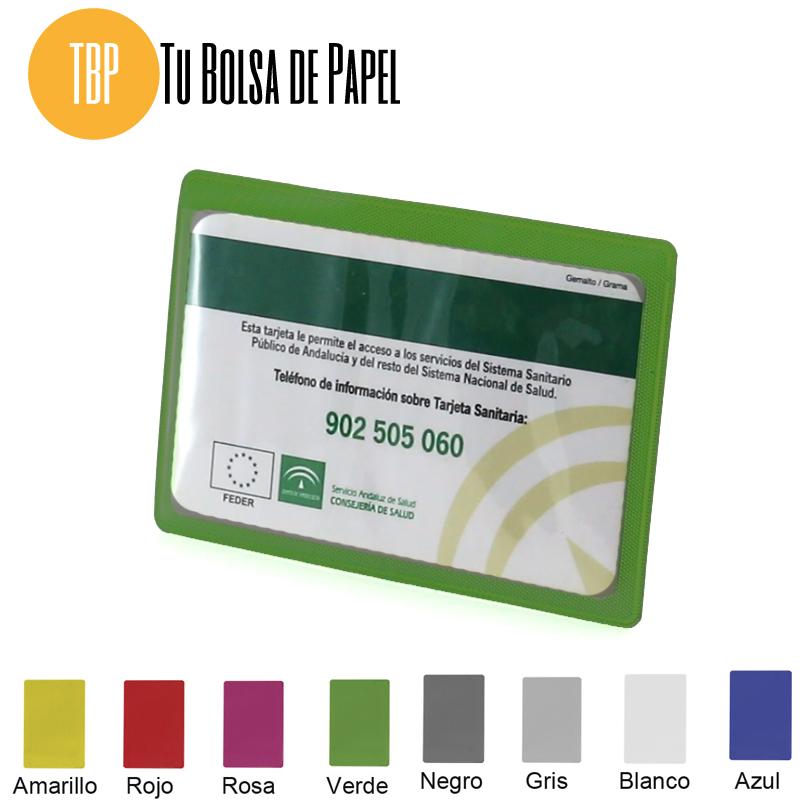 Tarjetero para Farmacias- verrde - una tarjeta