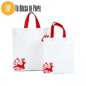 Bolsa de papel de Navidad Blancas Reno