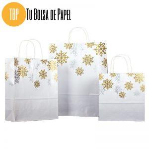 Bolsa de papel de Navidad Oro y plata Regalos