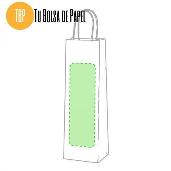 Bolsa de papel para botellas personalizada