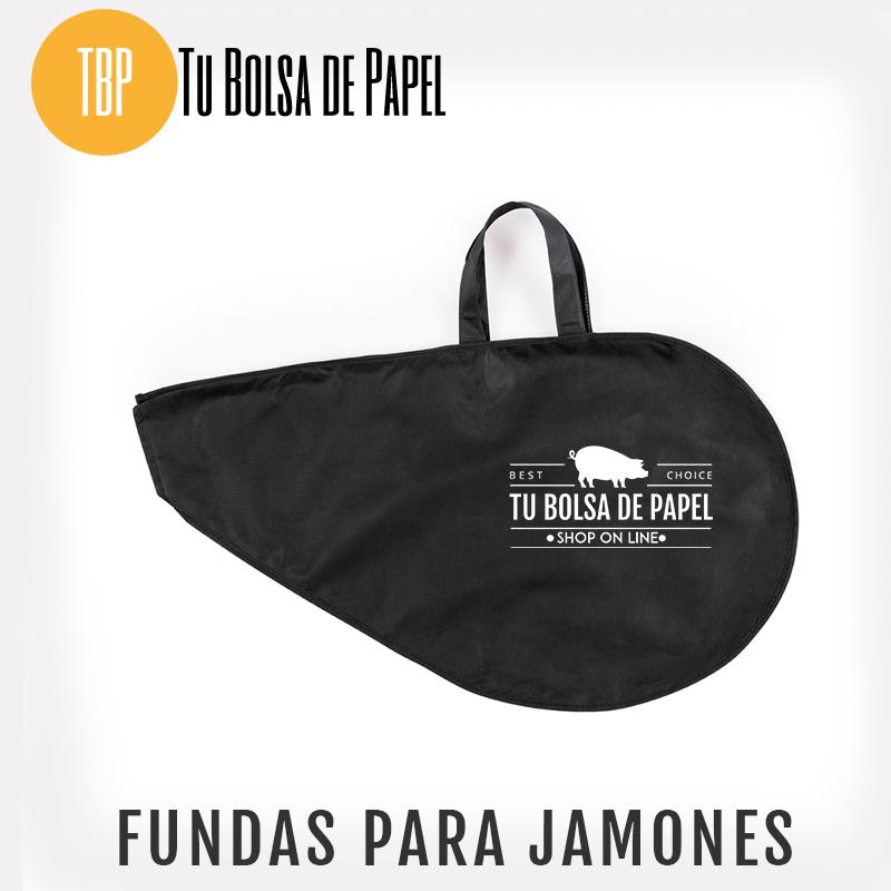 Bolsas para jamones negra con logo