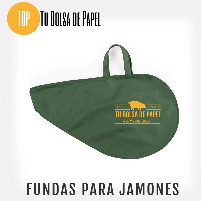 Fundas para jamones Verde personalizada
