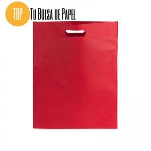 Bolsa reutilizable con asa riñon tejido no tejido rojo