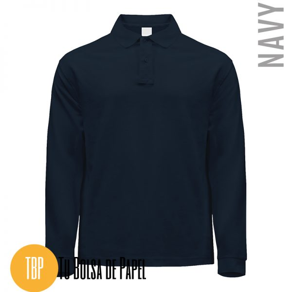 Polo Manga larga AZUL NAVY