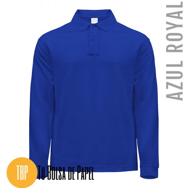 Polo Manga larga AZUL ROYAL
