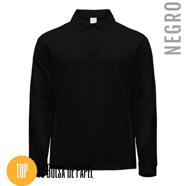 Polo Manga larga NEGRO