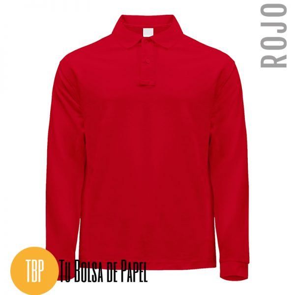 Polo Manga larga Rojo