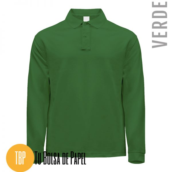 Polo Manga larga verde