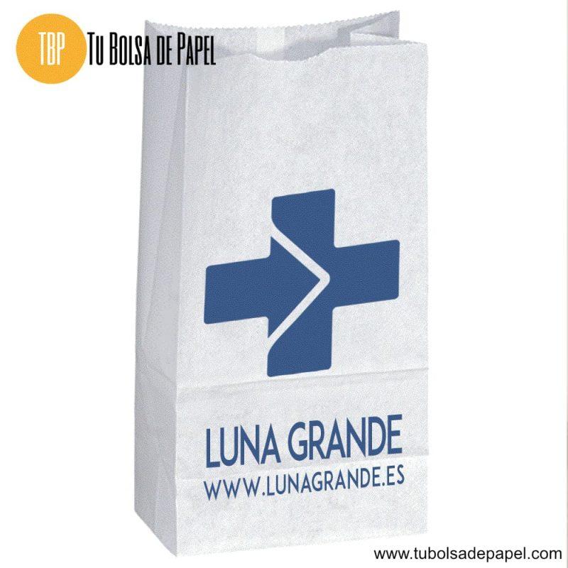 Bolsa de papel para farmacias personalizadas
