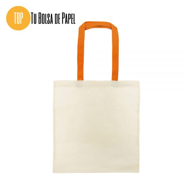 Bolsa de algodón asa naranja