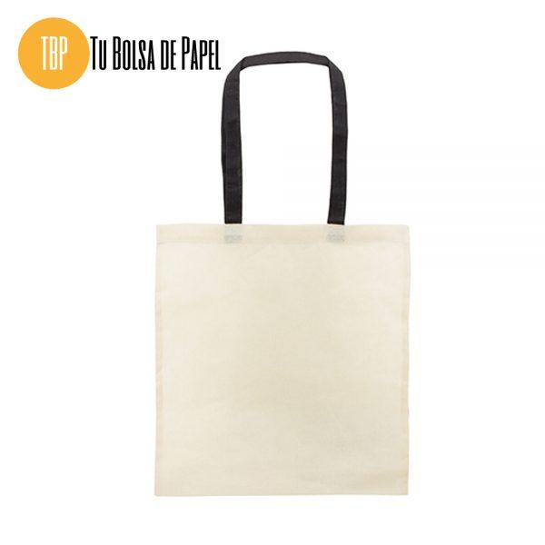 Bolsa de algodón asa negra