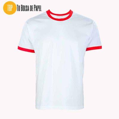 Camisetas Bicolor Blanca y Roja