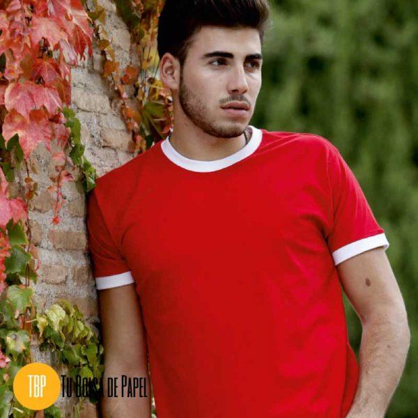 Camisetas Bicolor Roja y Blanca