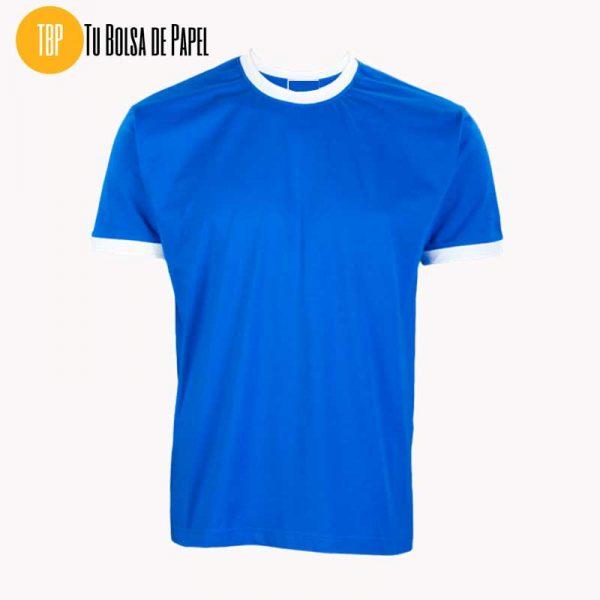 Camisetas Bicolor Azul y Blanco