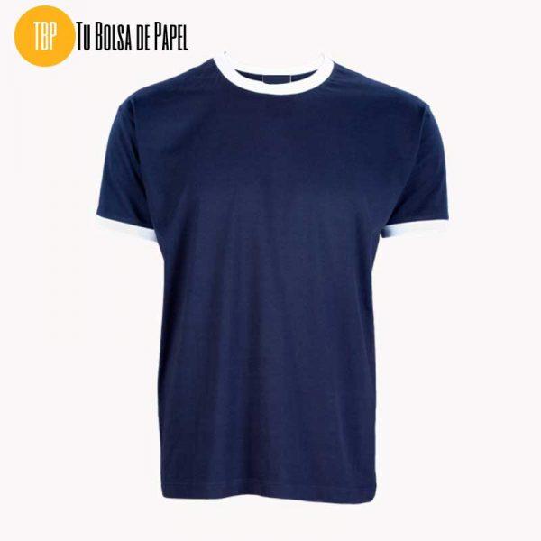 Camisetas Bicolor Azul Marino y Blanco