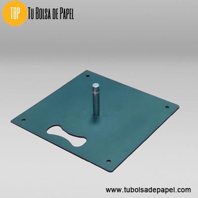 Base placa metálica contrapeso para Fly Banner Lágrima-Gota