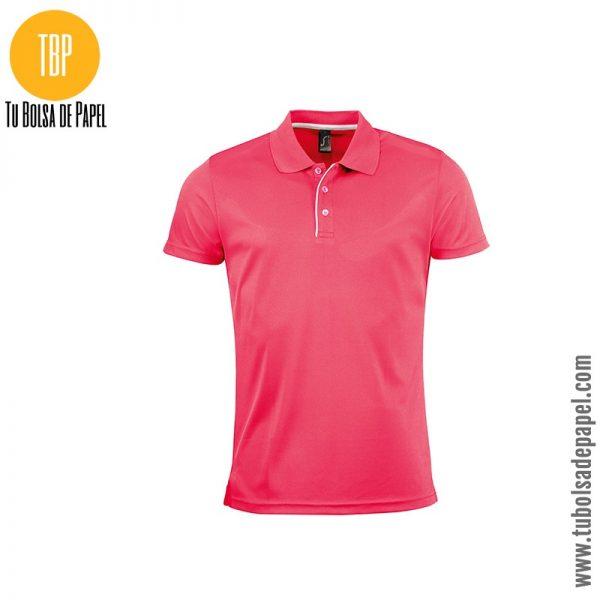 Polo deportivo hombre rosa