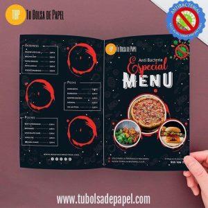 Carta menu Restaurante Anti Bacterias