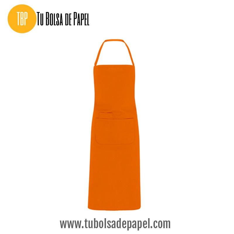 Delantal largo Para Hostelería color Naranja