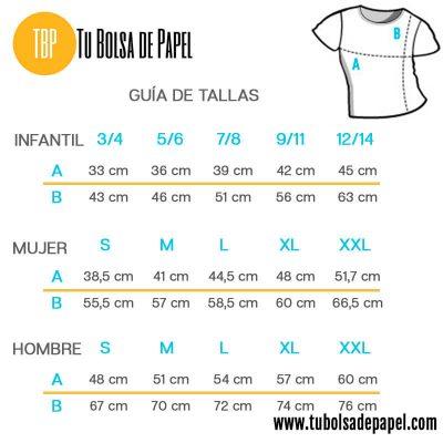Guía de tallas de camisetas