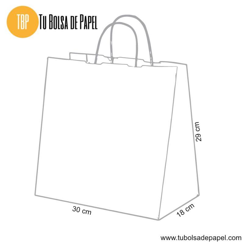 Bolsa de papel Kraft para restaurantes