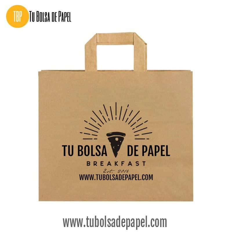 Bolsa de papel para hostelería impresas