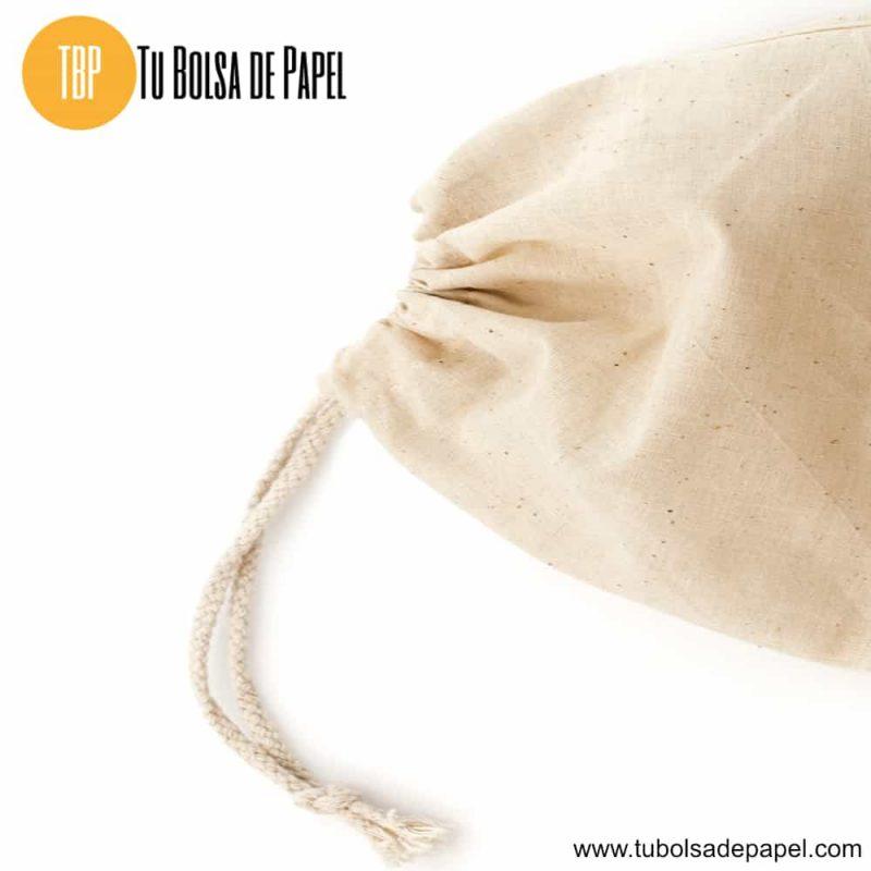 Bolsas de algodón con cierre de cordón