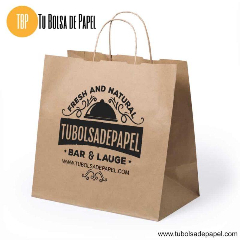 Bolsas de papel kraft comida para llevar