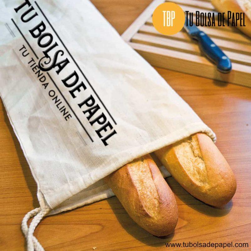 Funda para barras pan de algodón con logo