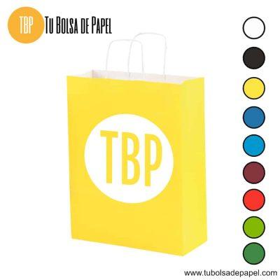 Bolsa de papel Amarilla impresa