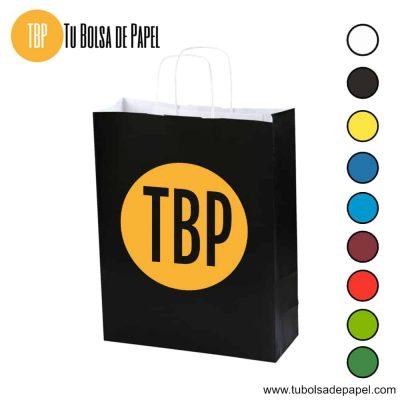 Bolsa de papel Negra impresas