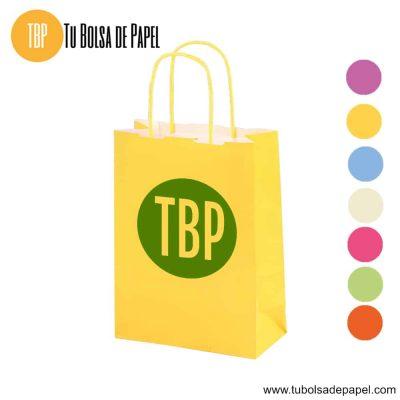 Bolsa de papel Amarilla Personalizada