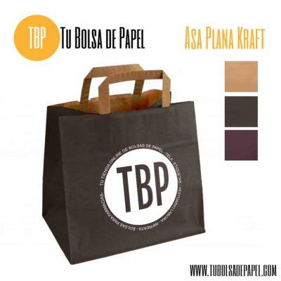 Bolsa de papel Kraft para hostelería marrón