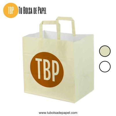 Bolsa de papel de comida para llevar
