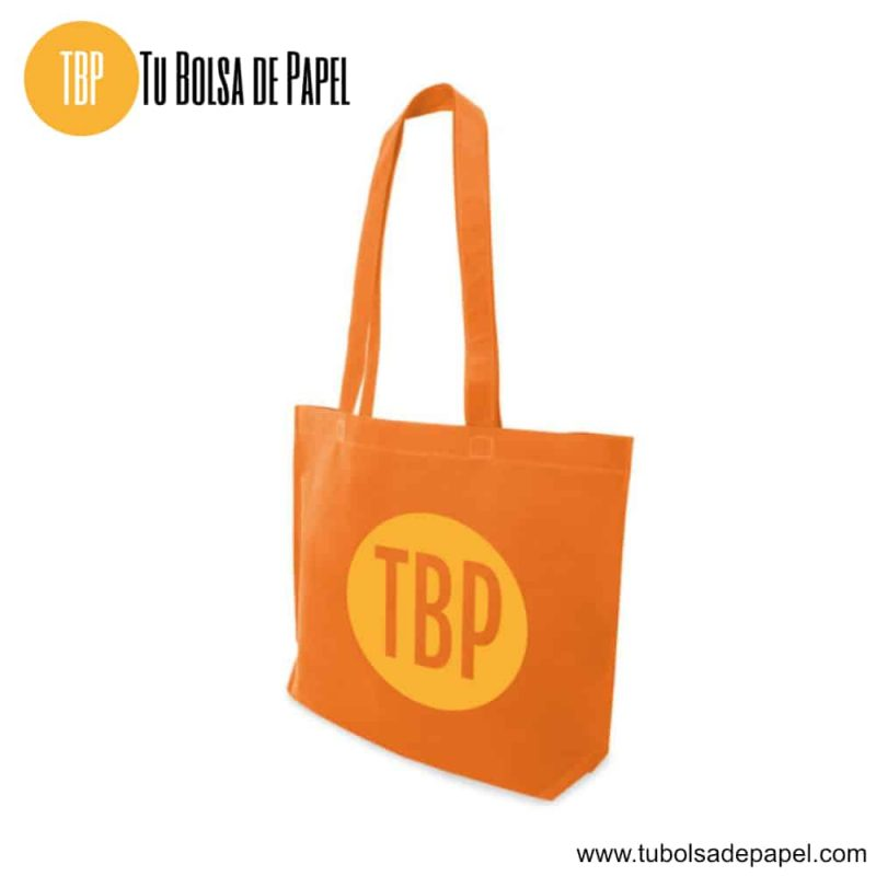 Bolsa reutilizable para comercios naranjas