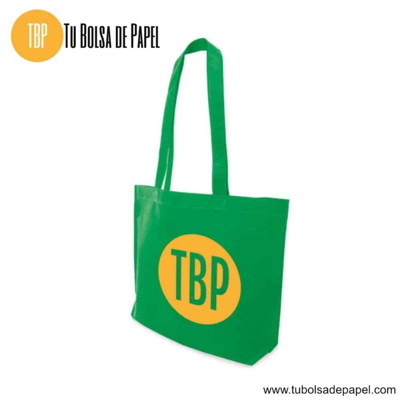 Bolsa reutilizable para comercios verde